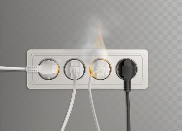 Ledninger i brann i kontakt