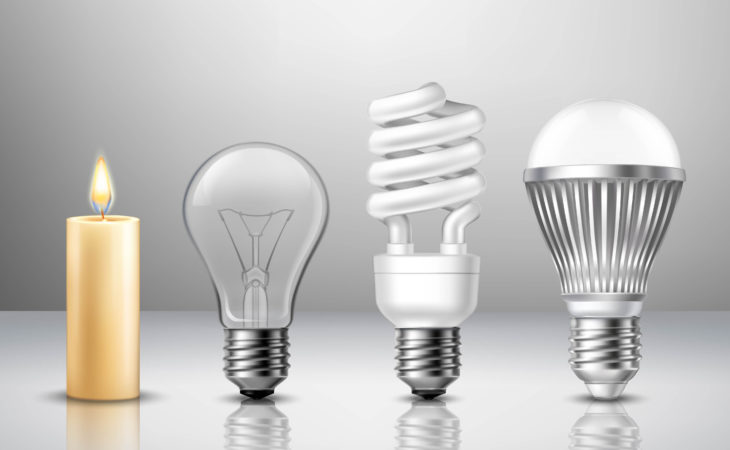 Fra stearinlys til LED