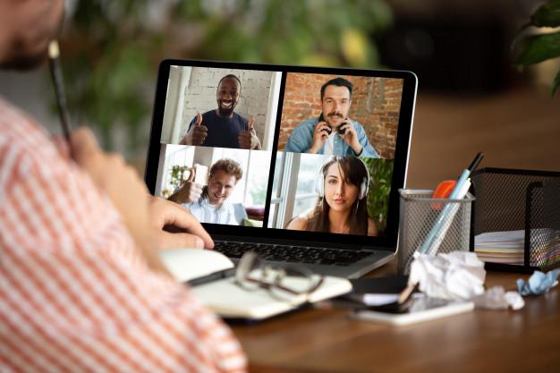 videomøte på hjemmekontor